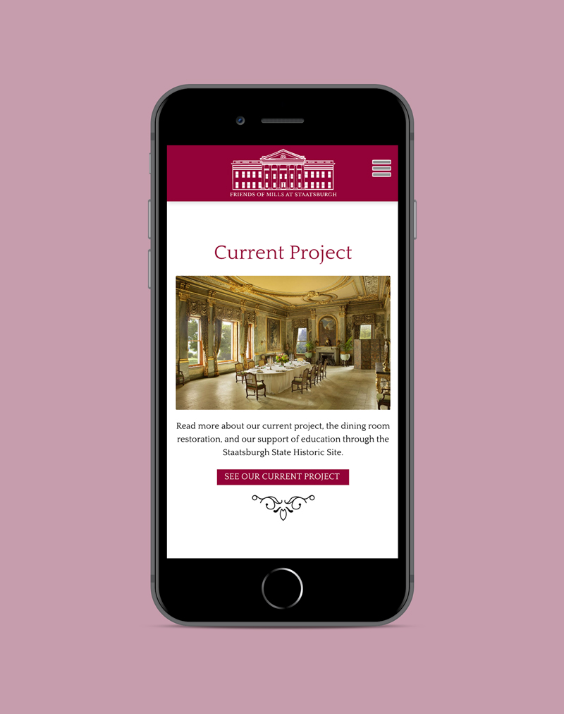 Friends of Mills Mansion mobile site