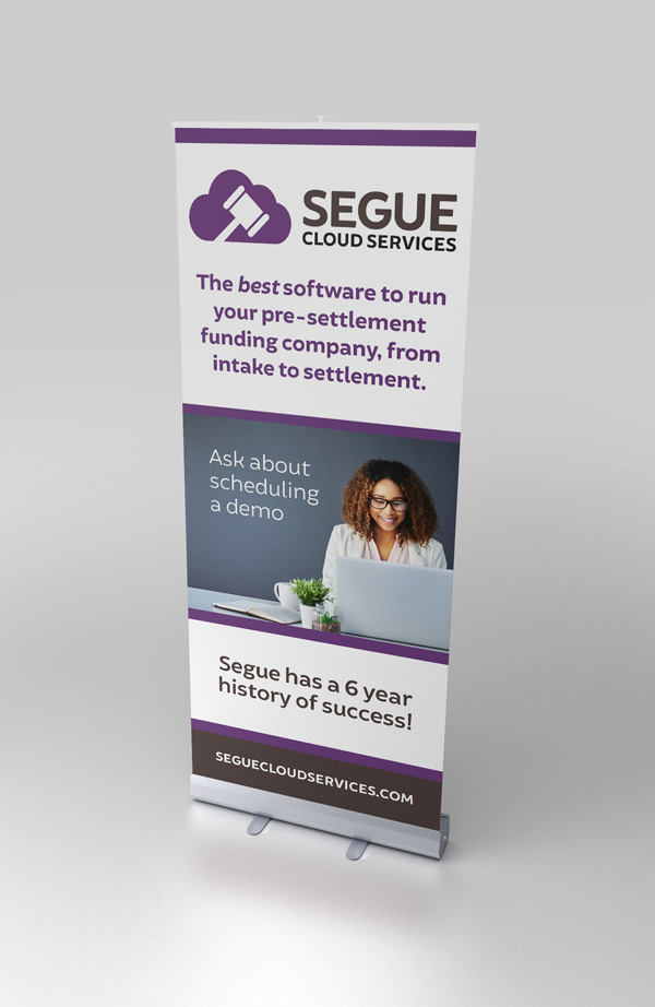 Pop-up Floor Display for Segue Cloud Services
