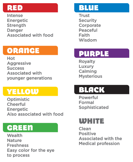 Before you talk to your graphic designer about color preferences for your  logo or brand, consider the above list. And be sure to talk to your  designer about ...