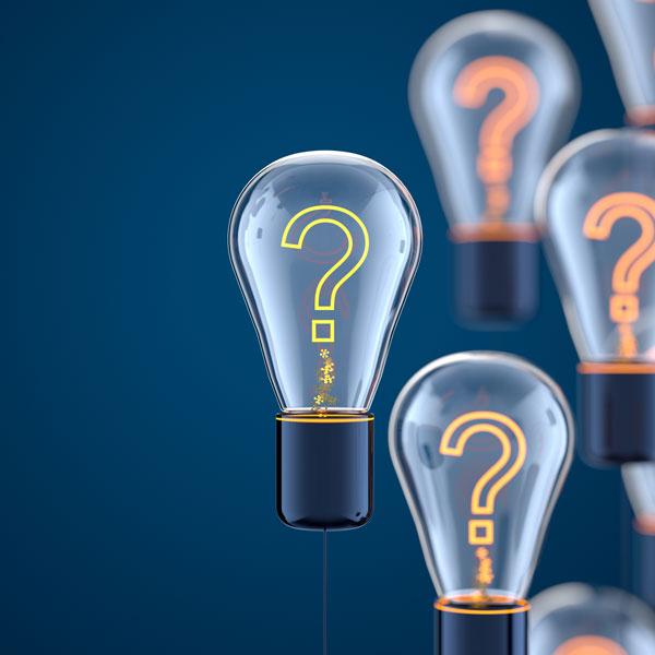 question light bulbs