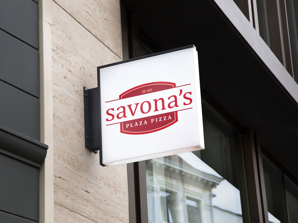 Savona's Pizza Logo