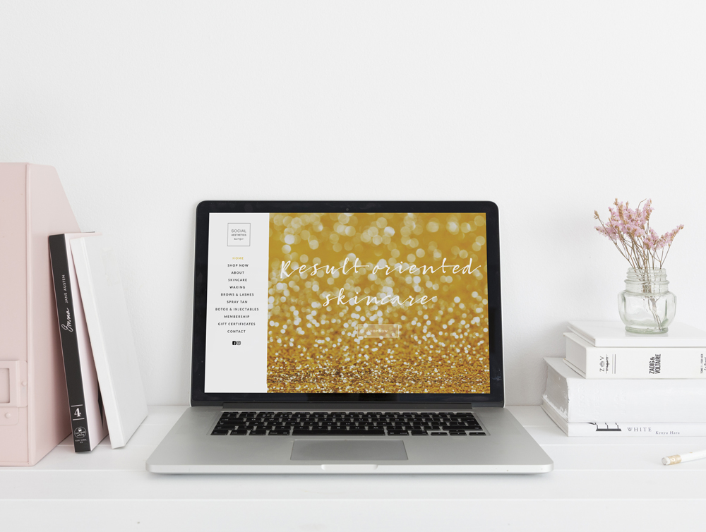 Social Aesthetics Boutique Website