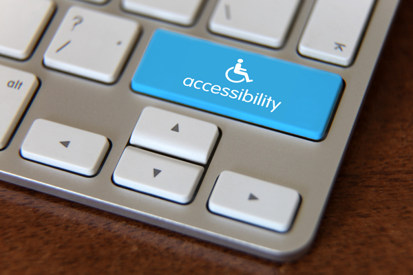Computer key labeled for accessibility